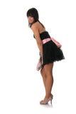 elegantt kvinnabarn för svart klänning fotografering för bildbyråer
