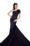 elegantt långt för klänning royaltyfria foton