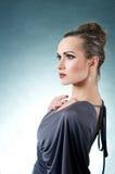 elegantt model nätt royaltyfri fotografi