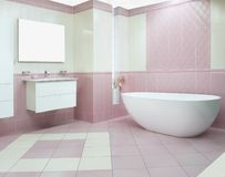 elegantt modernt för badrum royaltyfri foto