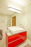 elegantt modernt för badrum royaltyfria bilder