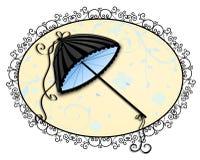 Elegantt paraply vektor illustrationer