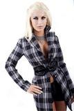 elegantt posera för modemodell royaltyfria foton