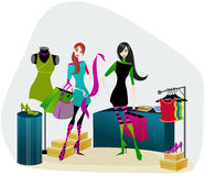 elegantt shoppa för flickor Arkivbild