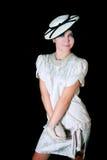 elegantt utformat retro för flicka royaltyfria bilder