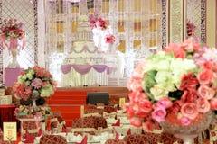 Eleganz-Hochzeits-Dekoration Lizenzfreies Stockfoto