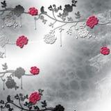 Eleganz romantisches Innersymbol auf einem warmen Hintergrund Stockbild