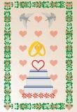 Eleganz romantisches Innersymbol auf einem warmen Hintergrund lizenzfreie stockbilder