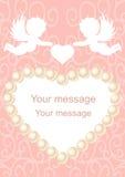 Eleganz romantisches Innersymbol auf einem warmen Hintergrund Stockfotografie