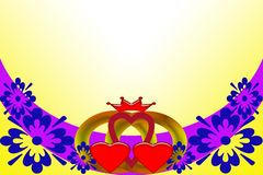 Eleganz romantisches Innersymbol auf einem warmen Hintergrund Abstraktes Bild mit mehrfarbigen Elementen vektor abbildung