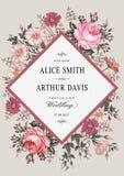 Eleganz romantisches Innersymbol auf einem warmen Hintergrund Schöne realistische Blumen Kamillen-Rosen-Karte Feld, Aufkleber Vek Lizenzfreie Stockbilder