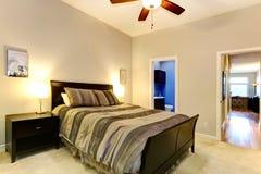 Elegent master bedroom Stock Image