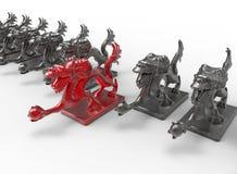 Elegido un concepto - dragón Foto de archivo libre de regalías