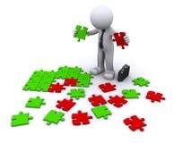 Elegir el pedazo del rigth. concepto de la decisión Fotografía de archivo libre de regalías