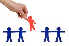 Elegir a la persona roja de un grupo