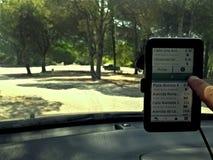 Elegir su destino en GPS foto de archivo libre de regalías