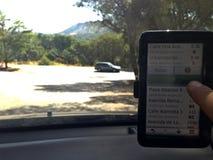 Elegir su destino en GPS imágenes de archivo libres de regalías