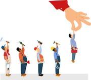 Elegir un contratista stock de ilustración