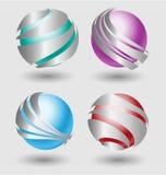 Elehant  metallic balls with silver embellishment. For creative design Stock Image