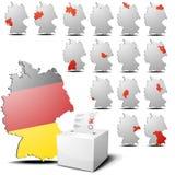 Eleição Alemanha ajustada Fotos de Stock Royalty Free