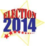 Eleição 2014 com estrela do ouro Imagens de Stock