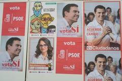 Eleição 2016 da Espanha Imagens de Stock Royalty Free