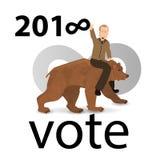 Eleição de Putin do russo ilustração royalty free