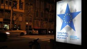 Eleição do Parlamento 2019 Europeu com alusões de Donald Trump video estoque