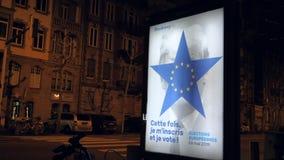Eleição do Parlamento 2019 Europeu com alusões de Donald Trump vídeos de arquivo