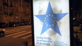 Eleição do Parlamento 2019 Europeu com alusões de Donald Trump filme