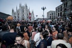 A eleição do pisapia de Giuliano da celebração pode, 30 2011 Foto de Stock