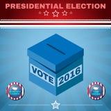 A eleição dos EUA 2016 cada votos conta ilustração stock