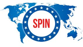 Eleição em um fundo do mundo, da rotação rendição 3D Mapa do país do mundo como o conceito do fundo político Votando, democracia  ilustração stock