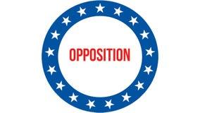 Eleição em um fundo dos EUA, da oposição rendição 3D Bandeira de Estados Unidos da América que acena no vento Votando, democracia ilustração royalty free
