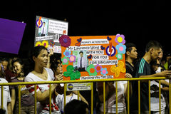 Eleição geral de Singapura PAP Rally 2015 Fotografia de Stock