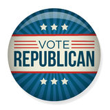 Eleição Pin Button da campanha do voto ou da votação ou crachá Imagens de Stock Royalty Free