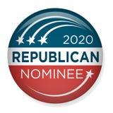 Eleição Pin Button de 2020 campanhas ou crachá com estrelas patrióticas ilustração stock