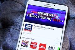 Eleição política dos EUA da notícia do Fox app 2016 Fotografia de Stock Royalty Free