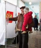 Eleição presidencial do russo, 4 março 2012 Foto de Stock