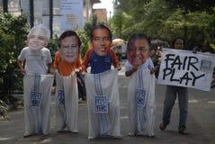 A ELEIÇÃO PRESIDENCIAL A MAIS APERTADA DE INDONÉSIA Imagem de Stock
