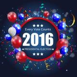 Eleição presidencial 2016 no fundo dos EUA Pode ser usado como a proibição Fotografia de Stock