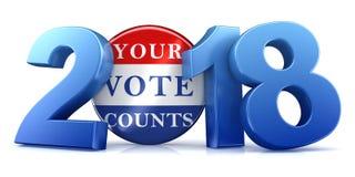 2018 eleição - rendição 3d Fotos de Stock Royalty Free