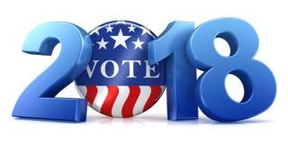 2018 eleição - rendição 3d Foto de Stock Royalty Free