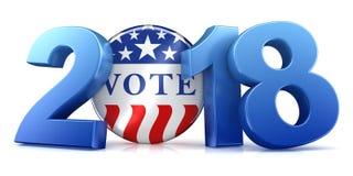 2018 eleição - rendição 3d Imagem de Stock Royalty Free