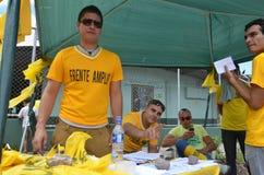 Eleições 2014 de Costa Rican Presidential: o apoio o mais novo o FÁ esquerdo do partido Fotografia de Stock Royalty Free
