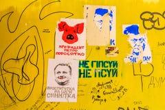Eleições de Lviv Ucrânia imagem de stock royalty free