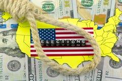Eleições dos E.U. ilustração stock