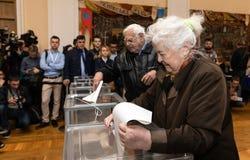 Eleições em Ucrânia fotografia de stock royalty free