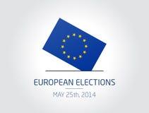 Eleições europeias ilustração royalty free
