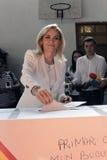 Eleições Romênia Gabriela Firea Imagens de Stock